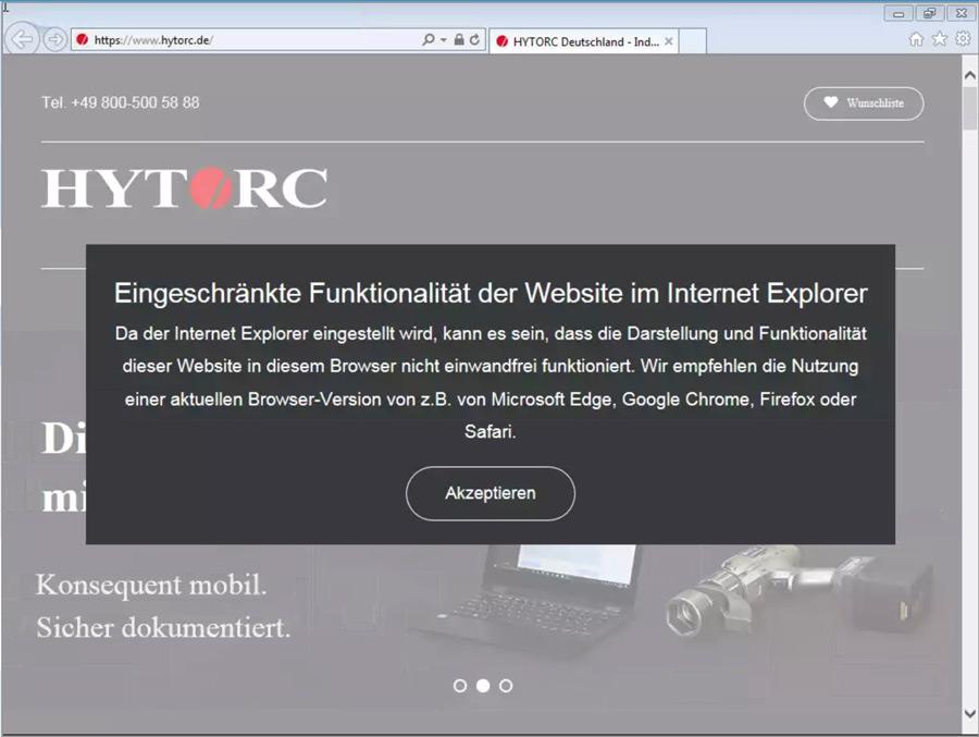 Eingeschränkte Unterstützung des Internet Explorer 11 in WordPress 5.8 - Mögliche Lösung mit Pop-Up Fenster